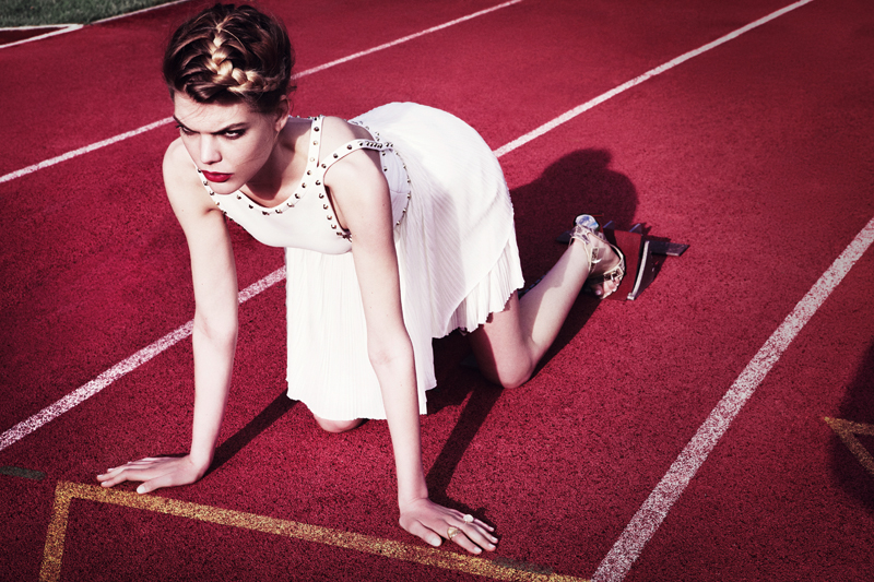 Olympic Games Editorial mit Topmodel Lucie von Alten; ©Rafaela Proell