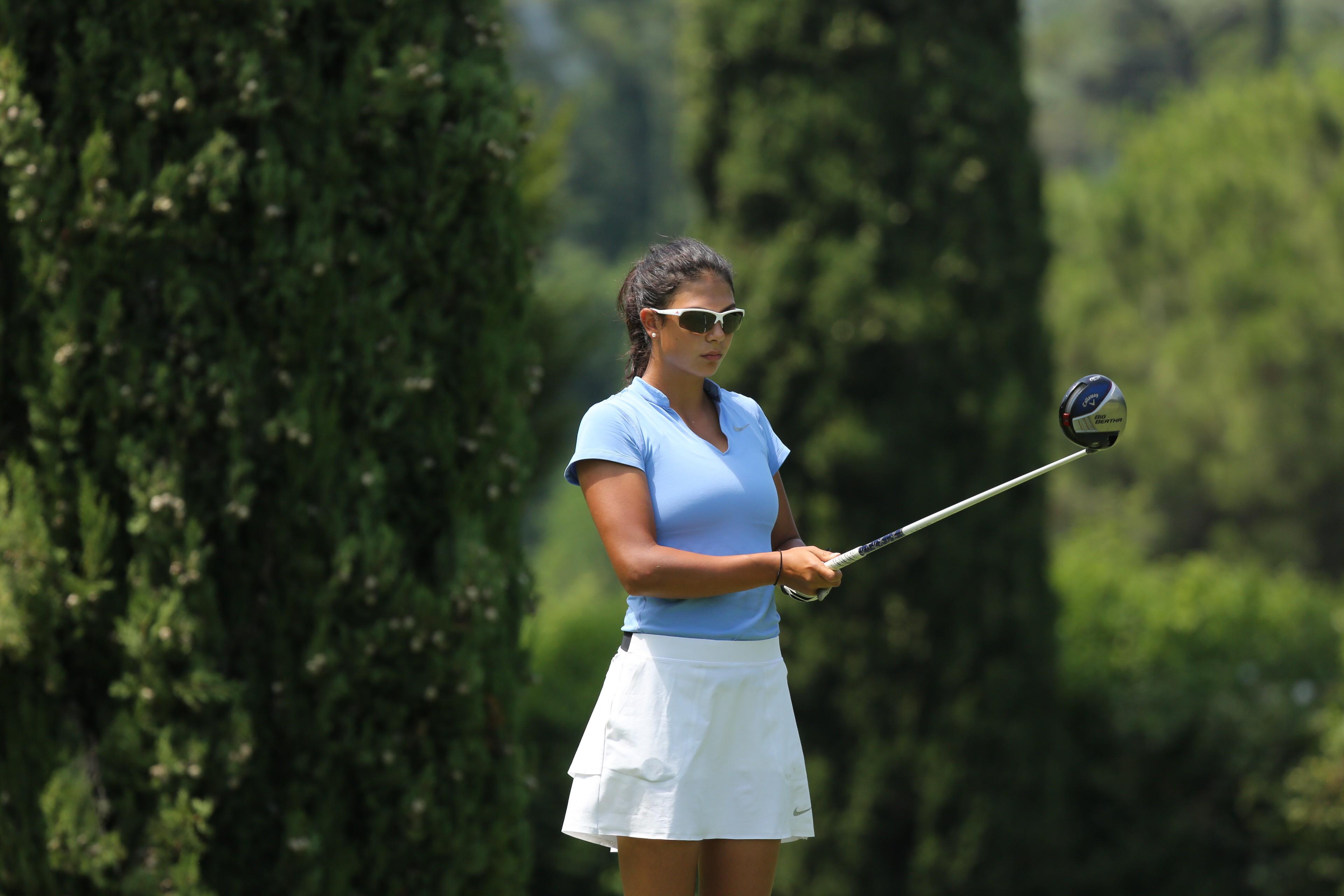 Chantal Düringer auf einem internationalen Turnier am Gardasee; Foto: ©adriano araimo photosports