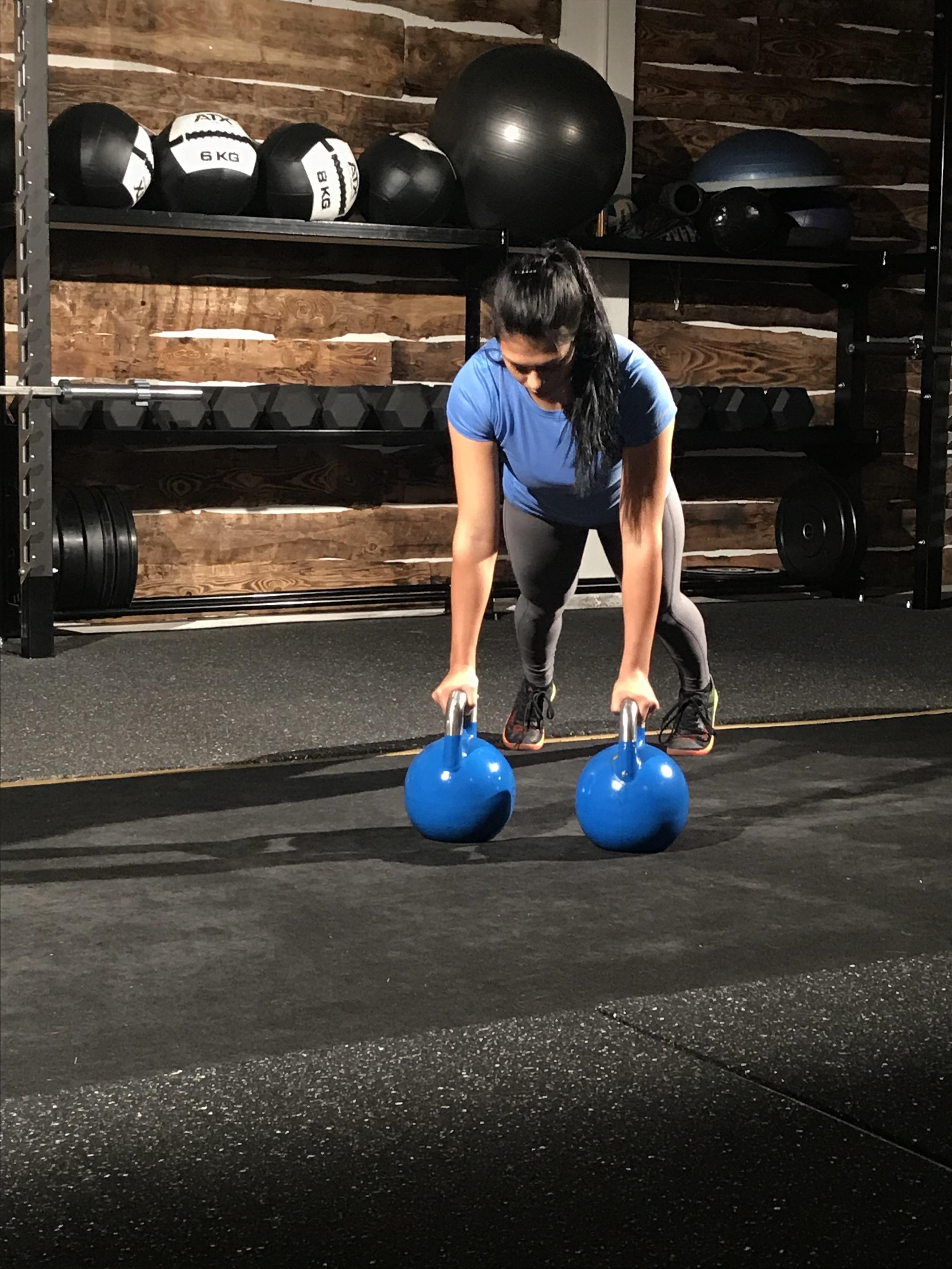 Chantal Düringer beim Fitnesstraining; Foto: ©Chantal Düringer