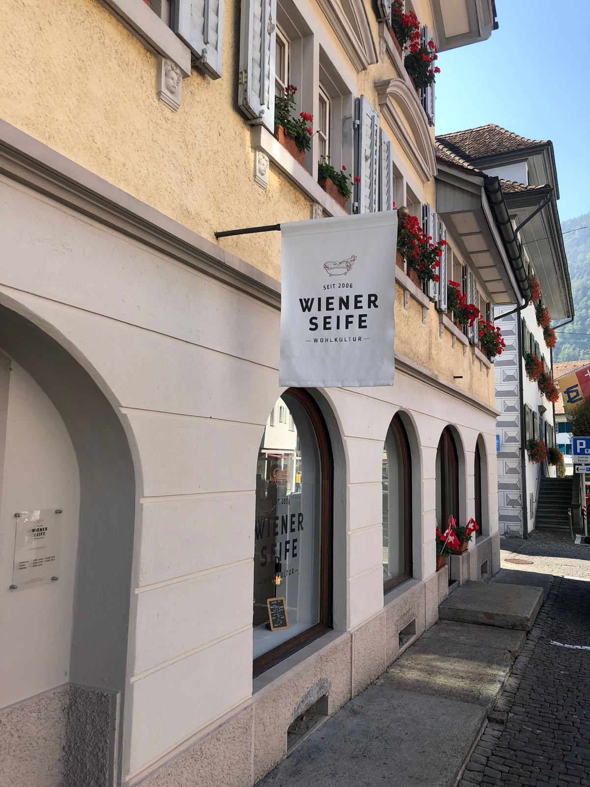 """""""Wiener Seife"""" in Arth/Schweiz; Foto: ©""""Schwarz auf Weiß"""""""