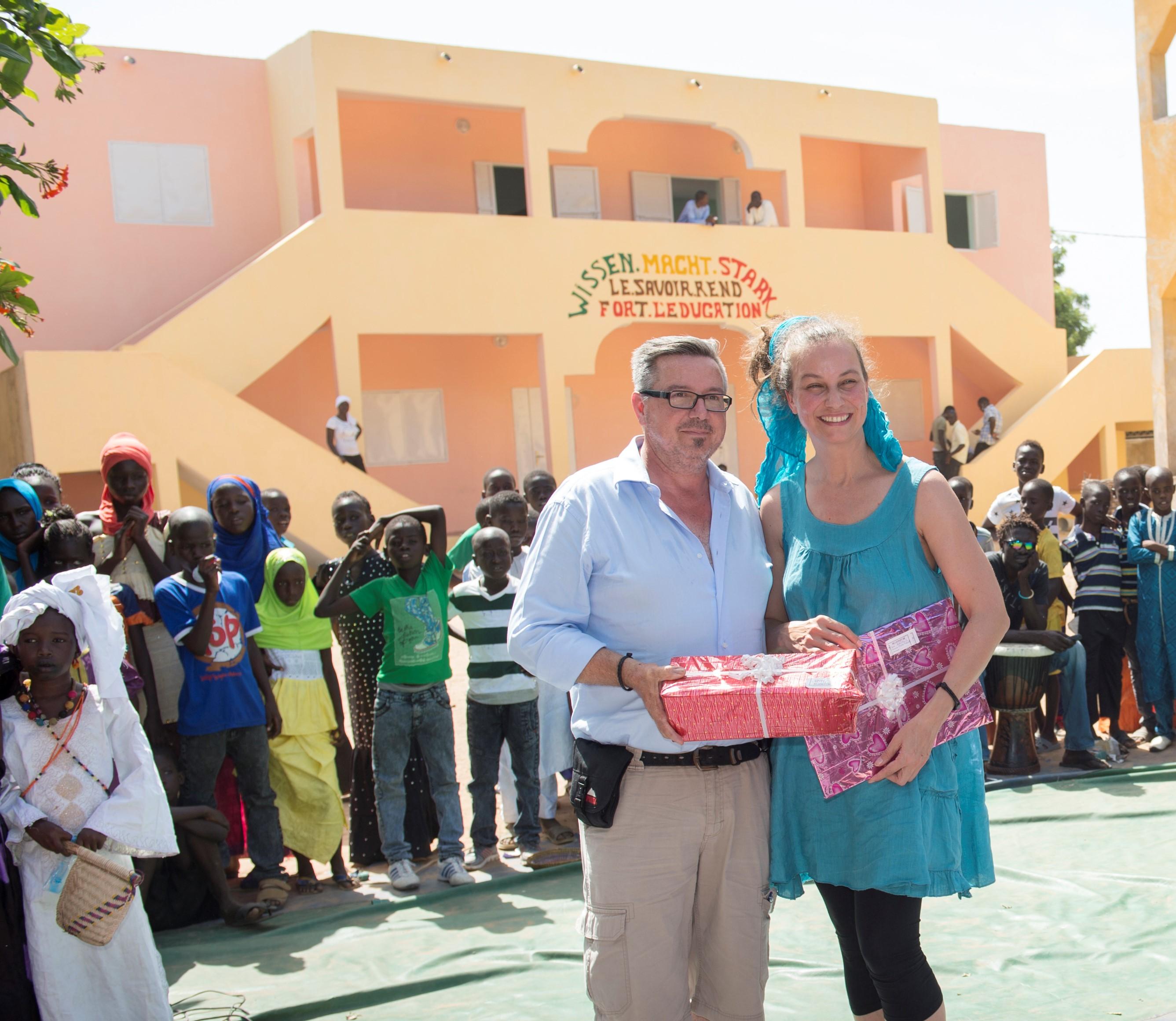 Eröffnungsfeier Grundschule 2015; Foto: ©MEDIArt | Andreas Uher; Projekt Wissen macht Stark, Senegal, Mbaling,