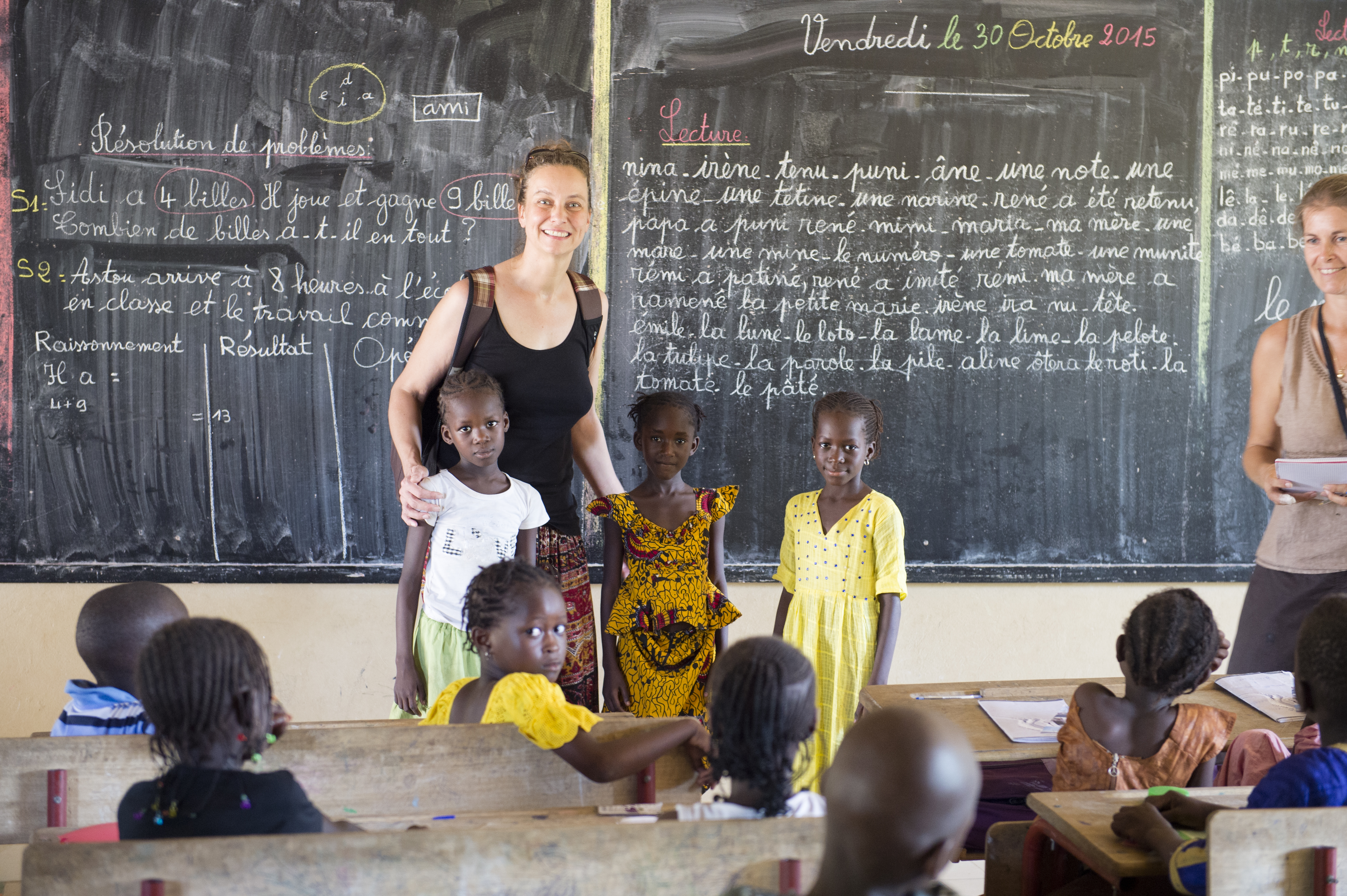 Schulbesuche 2015; Foto: © MEDIArt | Andreas Uher; Projekt Wissen macht Stark, Senegal, Mbaling,