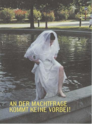 """Postkarte zur Aktion """"54% der Welt den Frauen""""; ©""""Frauengetriebe"""""""