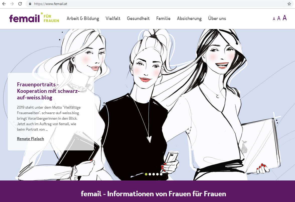 """""""Schwarz auf Weiß"""" bei """"femail""""; ©""""femail"""""""