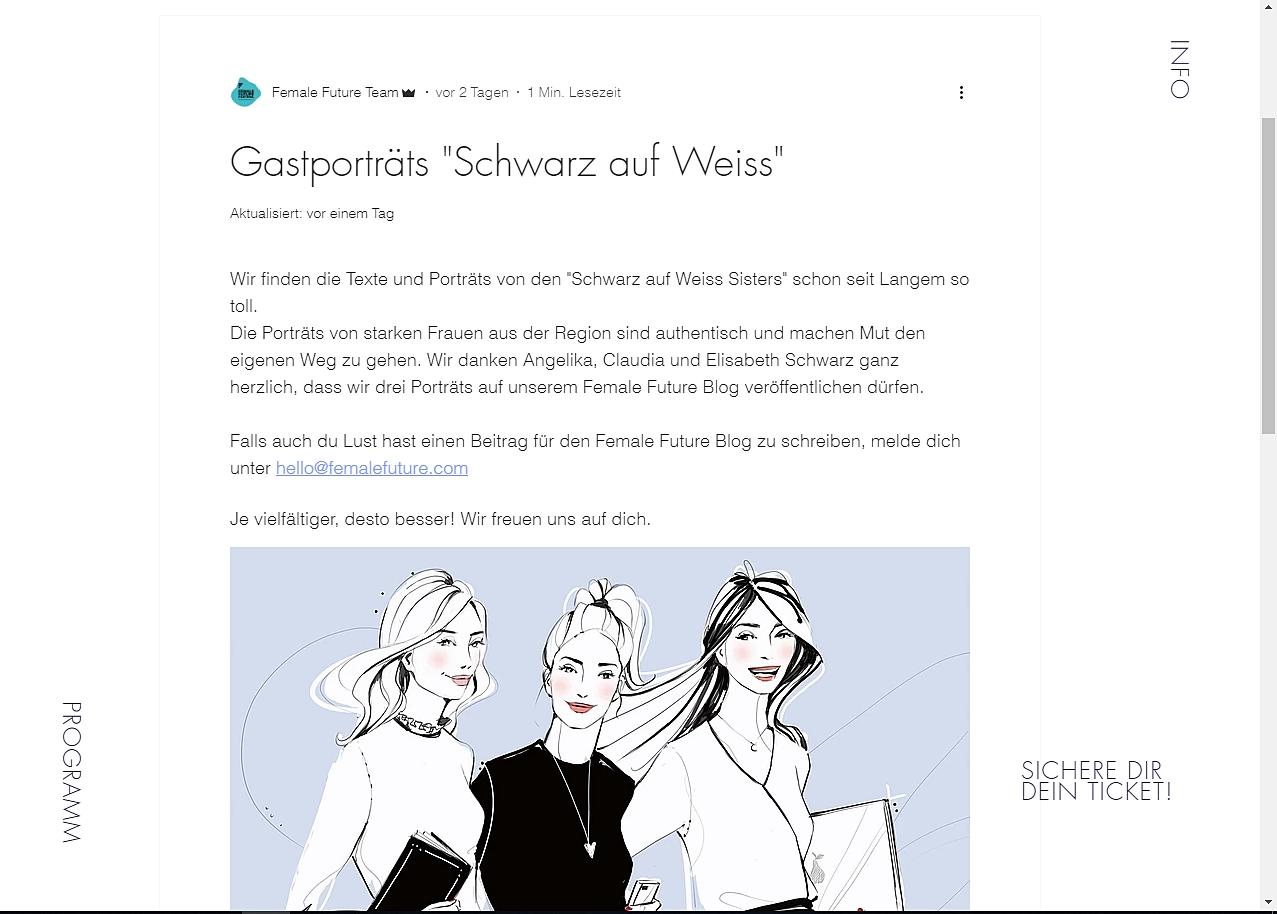 """Female Future Festival; ©""""Schwarz auf Weiß"""""""