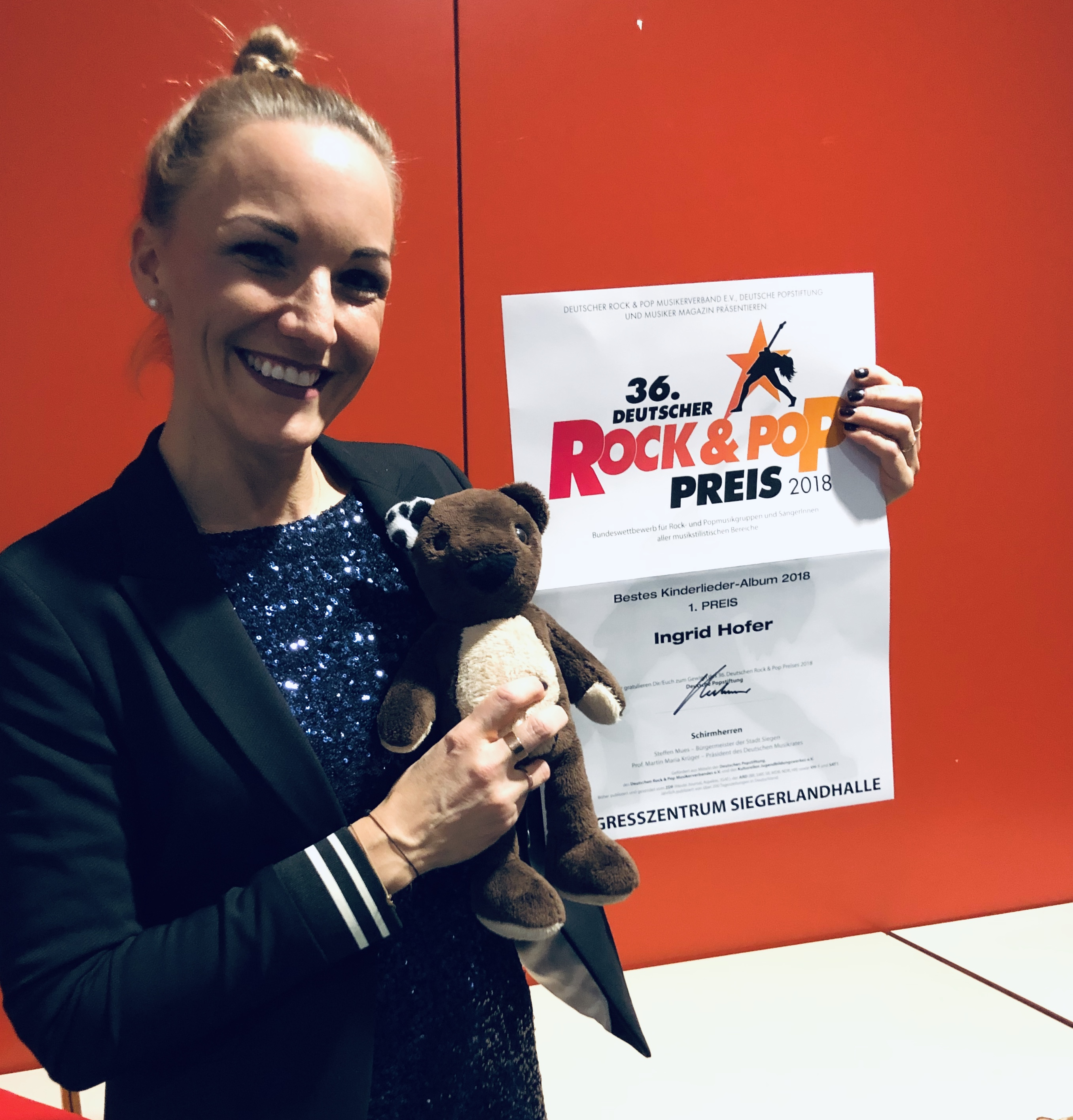 Deutscher Rock & Pop Preis 2018; Foto: ©Ingrid Hofer